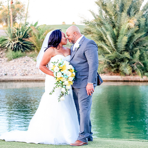 Palm Valley by Wedgewood Weddings-Posing by the Pond