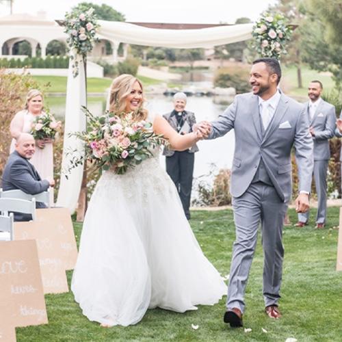 Ocotillo Oasis by Wedgewood Weddings hand in hand