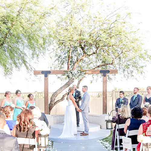 Palm Valley by Wedgewood Weddings-Bride and Groom at the Altar