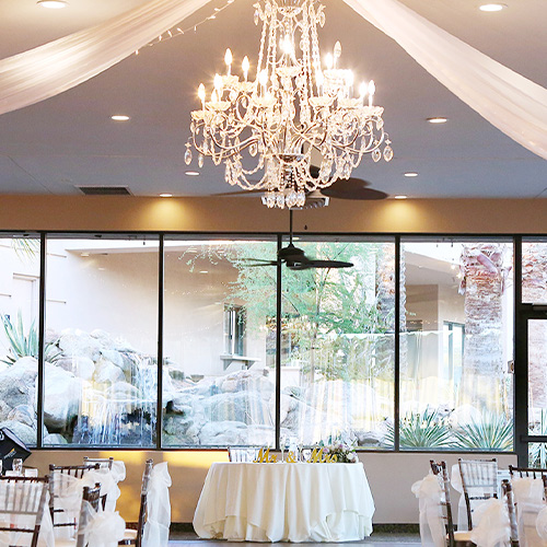 Palm Valley by Wedgewood Weddings Reception Draping and Sweetheart Table