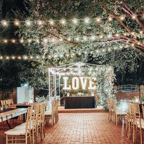 Stonebridge Manor by Wedgewood Weddings Outdoor Reception at Night
